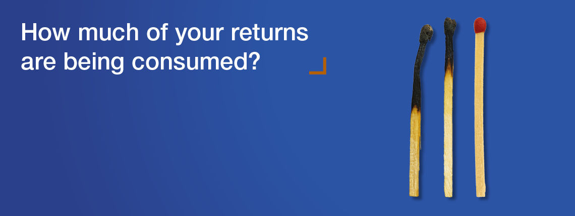 How much of your returns are being consumed?